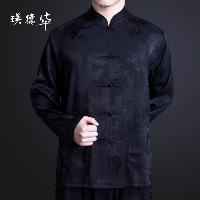 Men's clothing long sleeve casual clothing old shower of spring and autumn new products clothing man Chinese clothing with long sleeves men