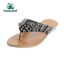 Hot air Ned.Nedy flat with shiny rhinestones Korean PU slippers sandals shoes retro shoes 73N2501