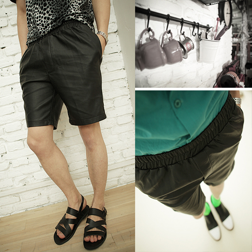 Wind show 2013 Givenchy GIVENCHY new cortical loose shorts men's fashion Shorts Pants