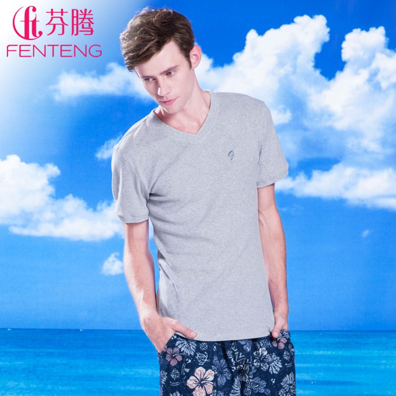 Finnish free Pajamas new 2013 summer fashion short sleeve home men's simple casual clothing more than mid layers can be selected