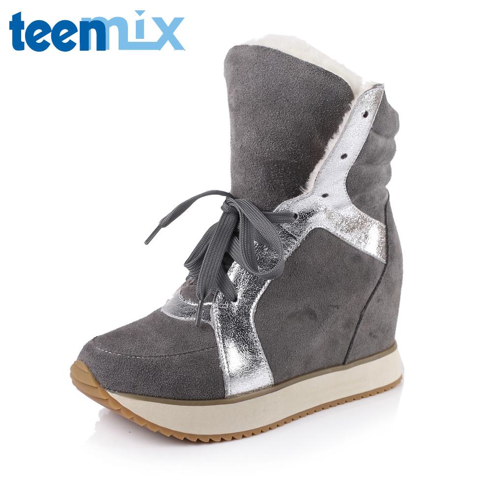 靴子 冬季/【绒里】TEENMIX/天美意牛皮16082DZ3冬季女靴子2013年