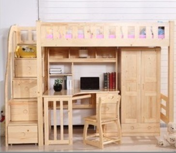 Двухъярусная детская кровать Люкс продажа деревянные кровати кровати сосна уровня интра кровать детская мебель столы Шкафы комбинированных кровати