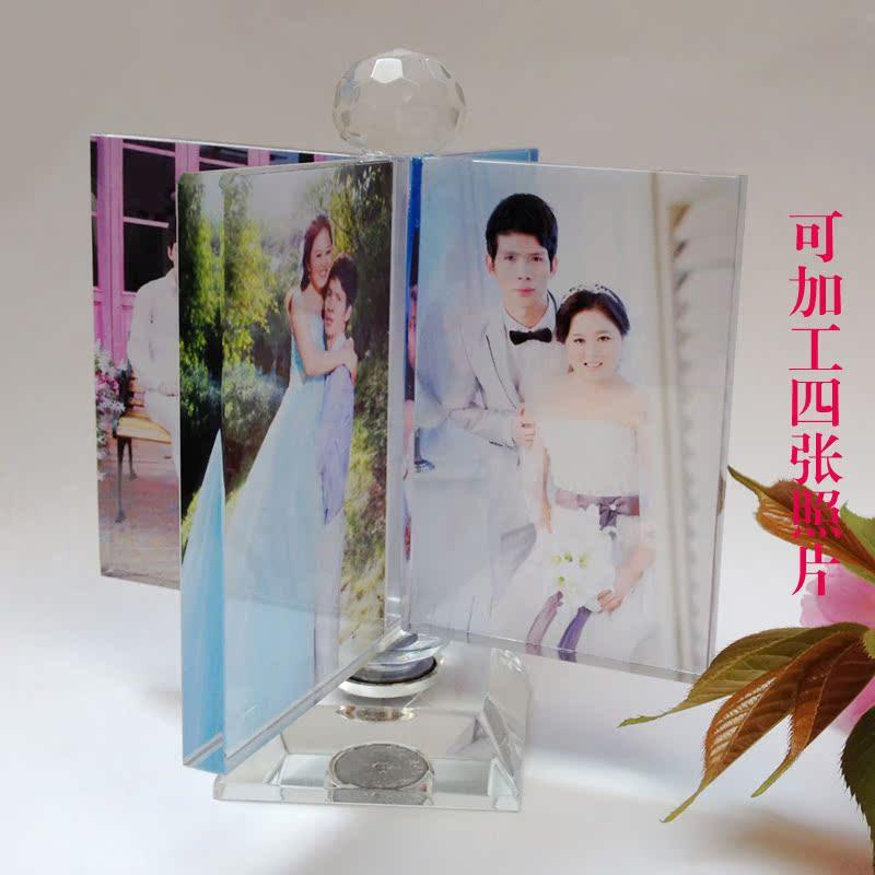 水晶风车相照片结婚纱定制作生日礼物情人节礼物diy个性创意摆台