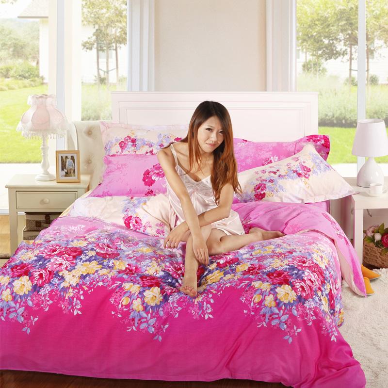 罗莱品牌家纺正品全棉四件套床品爆款新款床单式婚庆特价包邮