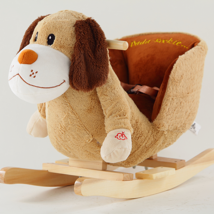 Anaqic brand baby toys gift animal rocker rocking horse children's rocking horse dog rocker
