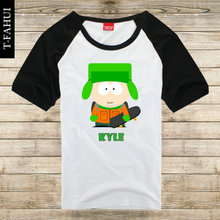 Animated cartoon SOUTH PARK T-shirt SOUTH PARK KYLE short sleeve raglan loose couple clothes men and women