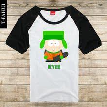 Animated cartoon SOUTH PARK T-shirt SOUTH PARK KYLE short sleeve raglan loose couple clothes men and women