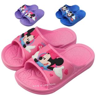 包邮正品迪士尼儿童凉拖鞋夏季浴室米奇宝宝拖鞋居家拖鞋男童女童
