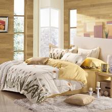 简舜 全棉斜纹印花四件套纯棉家纺被套1.5 1.8米床上用品清仓特价