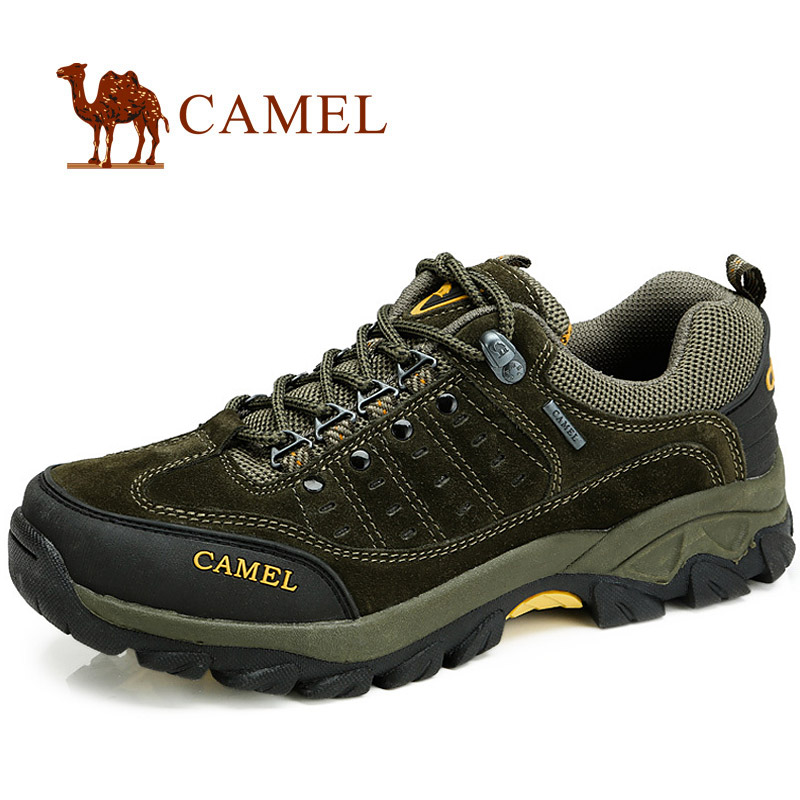 Camel camel trekking shoes genuine leather suede leather outdoor sports men's shoes casual walking shoes