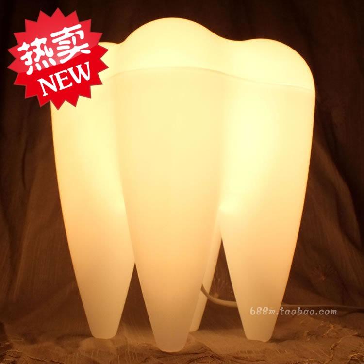 светильник 专利正品创意礼品牛奶白牙齿灯床头客厅书房台灯节日送人生日礼物
