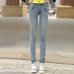 Korean style slim jeans, pencil pants casual long pants big size