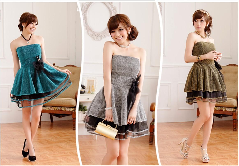 2013新款韩版夜宴性感主持人服短款伴娘连衣裙加大码姐妹装小礼服