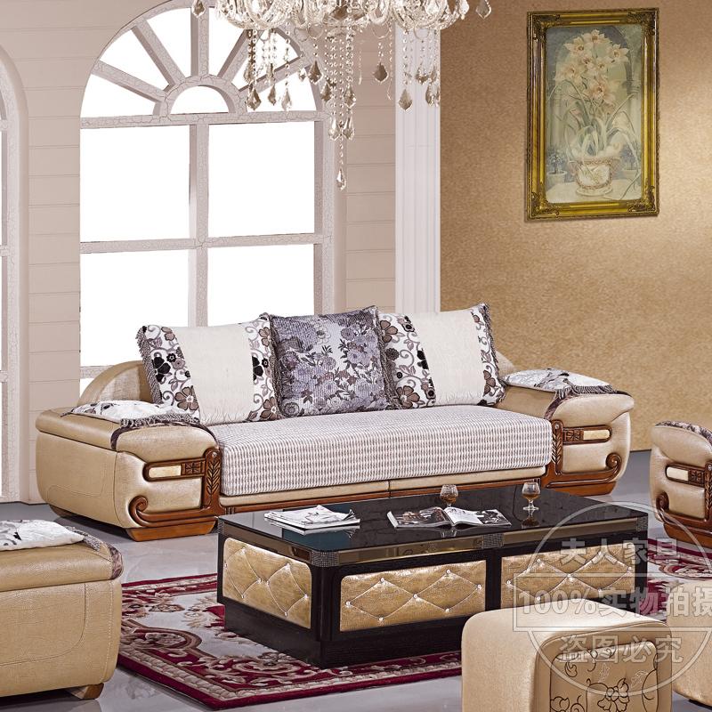 红木沙发 左右组合沙发 简欧沙发组合 后现代皮配布沙发 客厅家具