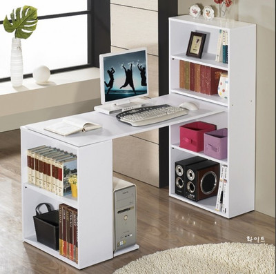 Special IKEA free combination of simple white bookcase bookcase desk computer desk desk can be customized