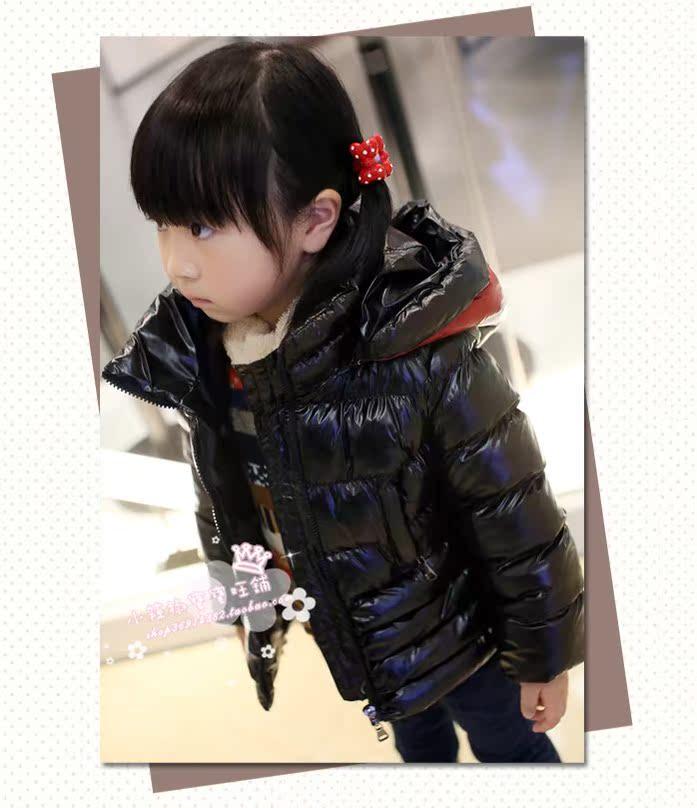 детская верхняя одежда Бросился три специальные детские Одежда для мужчин и женщин, новые зимние пальто с простой черно-белые драпировки рукава в Европе и Америке Детская одежда