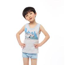 三枪迪士尼 童装春款弹力网眼男童背心男孩印花汽车图案 38075A0图片