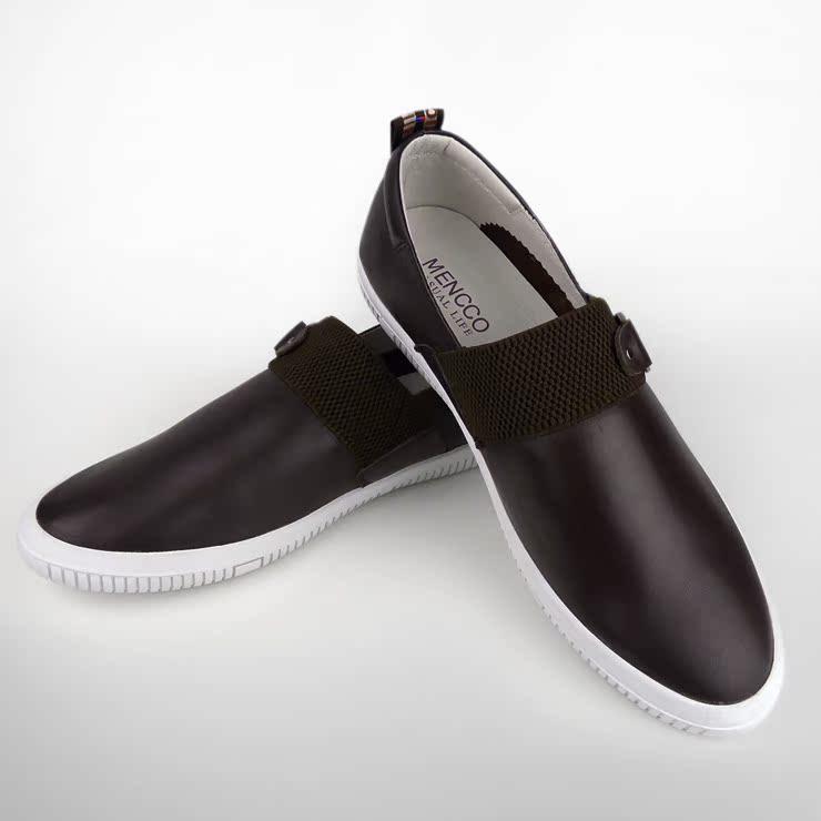 Демисезонные ботинки Mencco 315 Для отдыха Кожа Круглый носок Без шнуровки Весна и осень