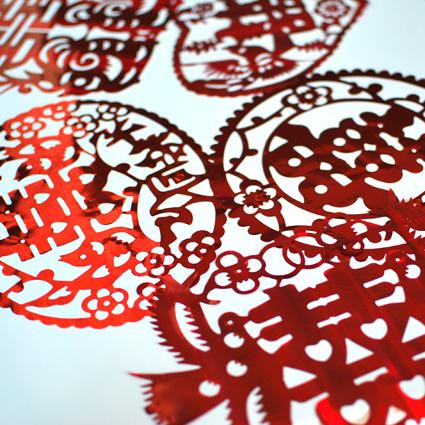 喜泡 结婚庆用品/个性创意剪纸门窗亮片喜字贴纸婚房婚车布置装饰
