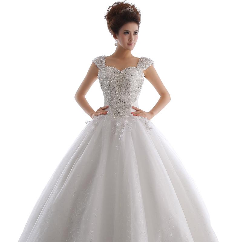 2012艾米新娘新款韩版甜美公主气质复古婚纱 韩式齐地抹胸婚纱礼