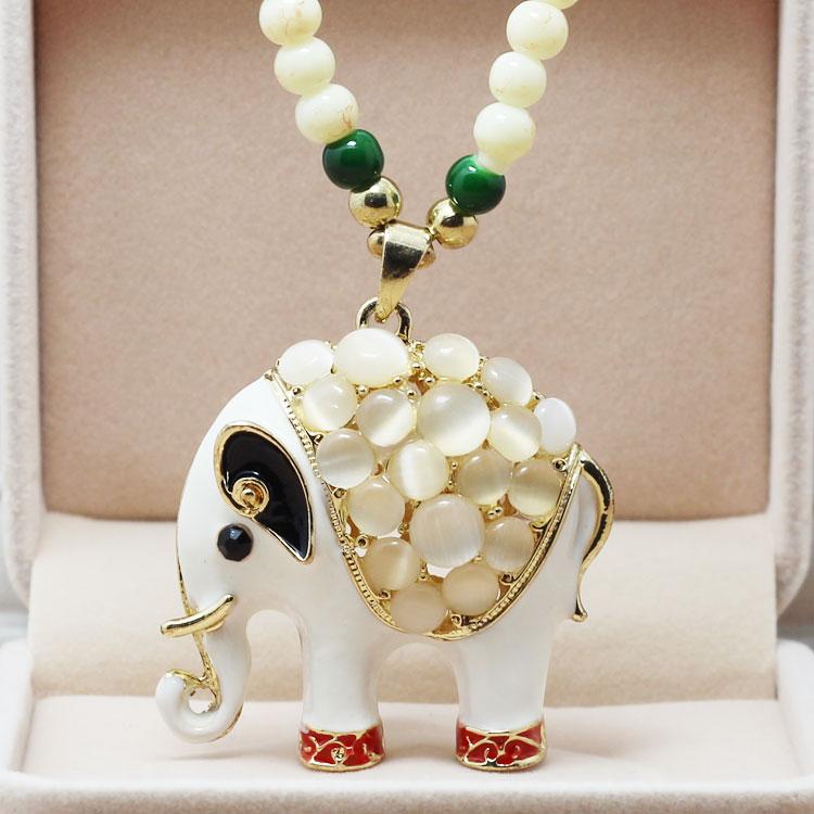 饰品特价时尚百搭大象毛衣链长款韩国 女水晶装饰项链锁骨链