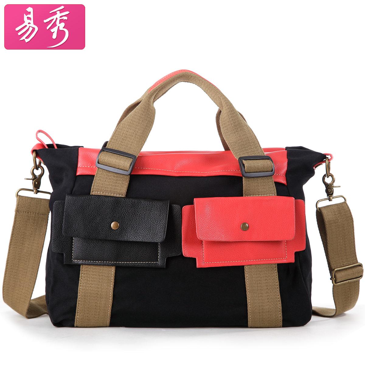 Сумка Easy to show bfk010701 Девушки Женская сумка Однотонный цвет Холщевка