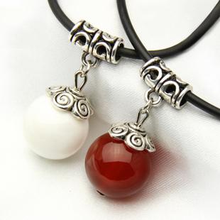 天然红玛瑙苗银项链锁骨链女款吊坠本命年红绳转运珠礼物正品包邮