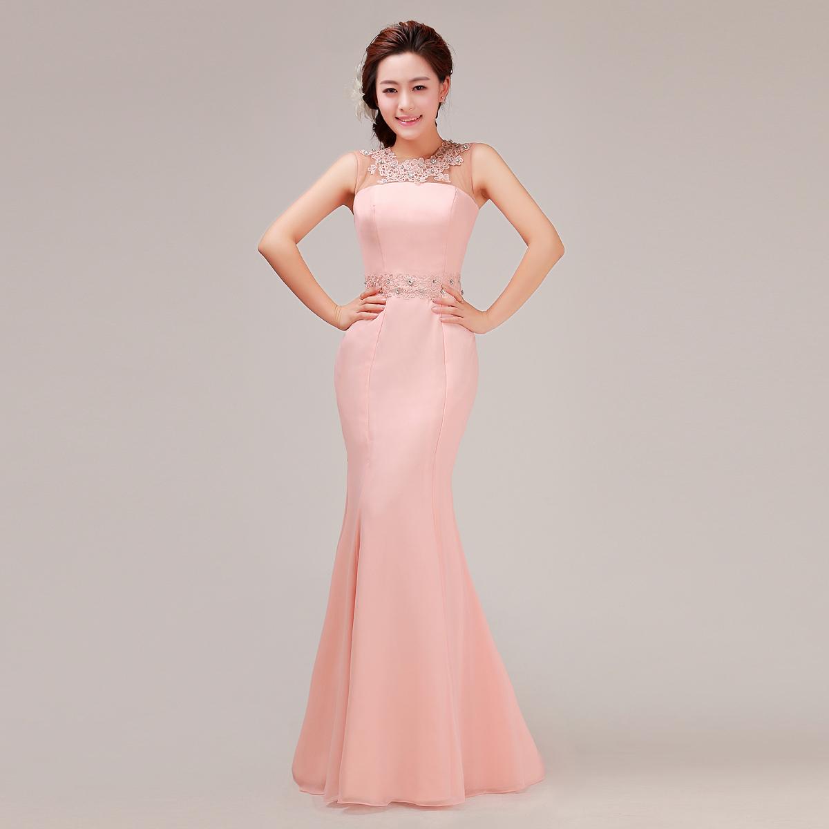 2013最新款婚纱礼服 时尚韩版修身鱼尾结婚敬酒晚礼服长款伴娘服