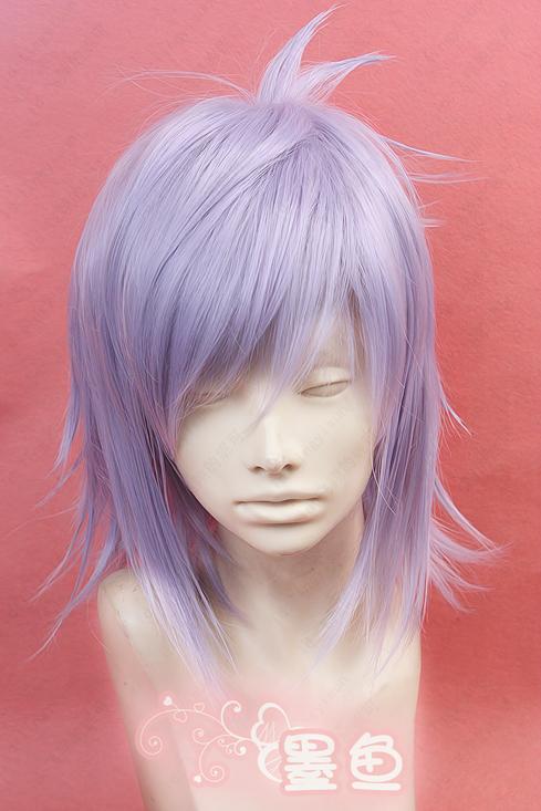 Аксессуары для косплея «Дьявол случаю потери кормильца 2» фэн Цзинь Юань, которые большие серо Фиолетовый парики COS