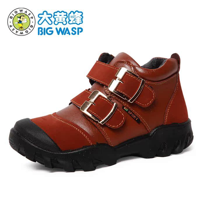 Детская кожаная обувь BIG WASP 303538077r Для молодых мужчин Кожа быка Липучка Комбинированная подошва Бренд