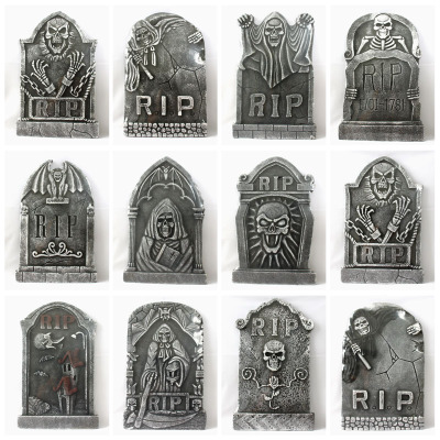 Halloween Haunted House Halloween supplies Halloween props bar upholstery field tombstone grave horror props