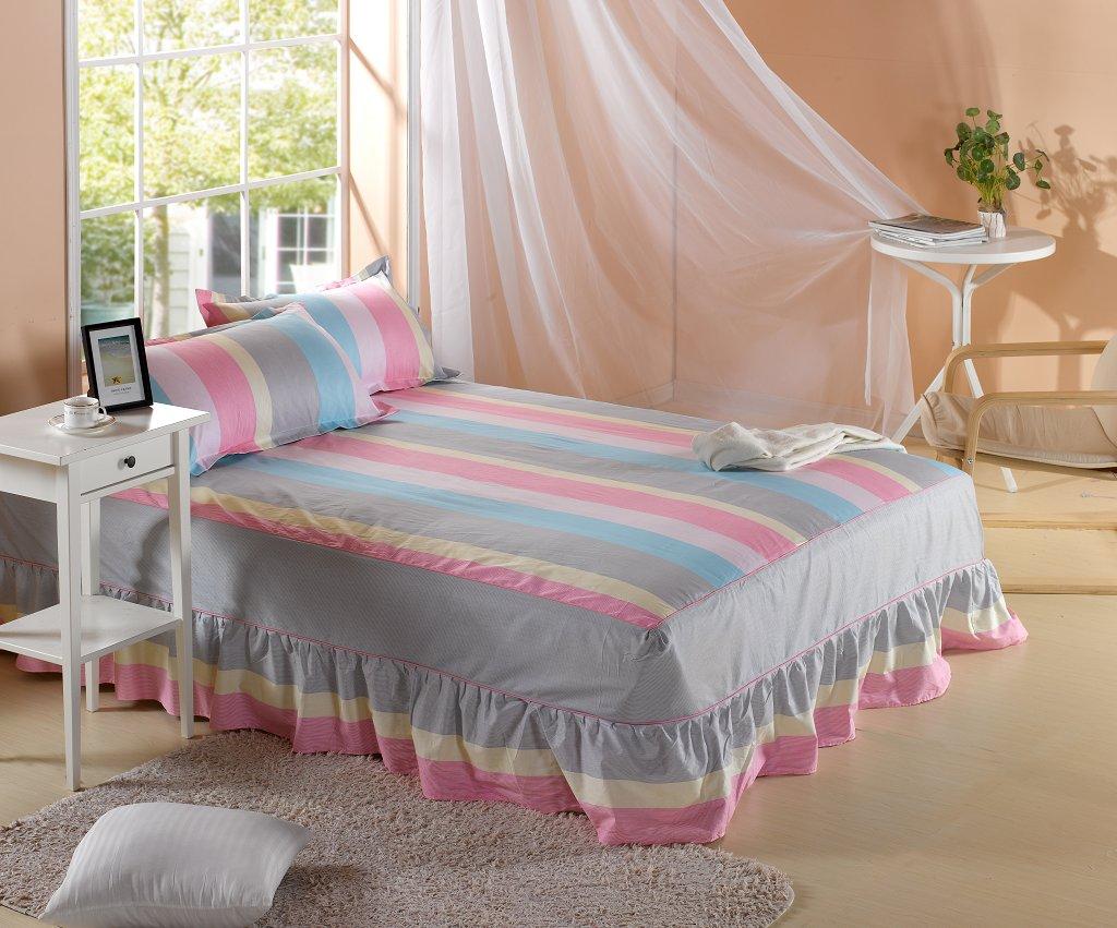 Простыни, Покрывала 100% хлопок кровати юбку покрывало кровати кровать Mikasa хлопок матрас protector 1.2/1.5/1.8