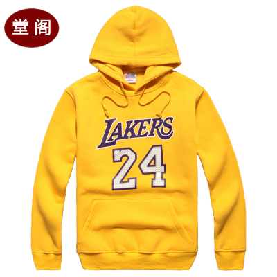 Club sports hall plus velvet warm sweater hedging sweater hoodie sweatshirt on the 24th male basketball Specials