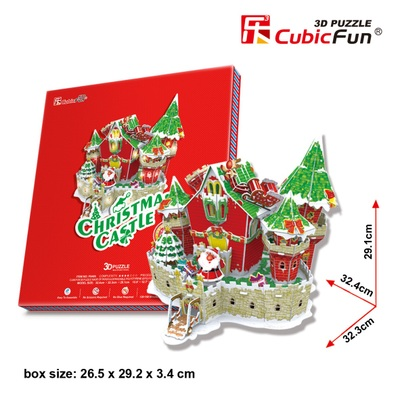 Genuine Le Cube 3D three-dimensional puzzle Christmas LED-lighted hut variety of optional New Year's gift