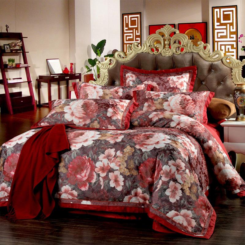 富安娜四件套正品 婚庆床上用品四件套纯棉 富安娜家纺四件套 特
