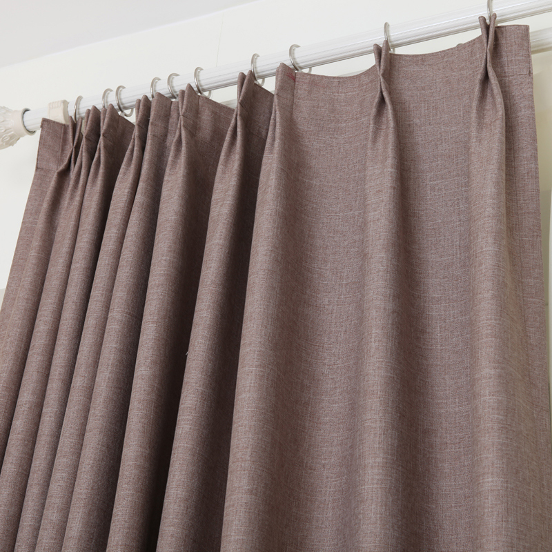 Solid Mianma curtains shading cloth customized style living room bedroom concise modern curtain finished curtains