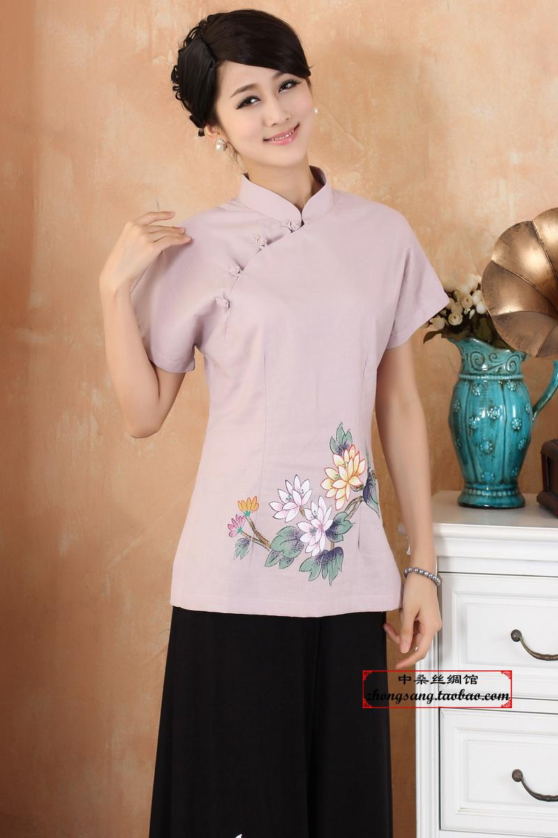 ms. tangzhuang qipao, summer summer 2013 chinese women's coat wind hand-painted chinese clothing cotton