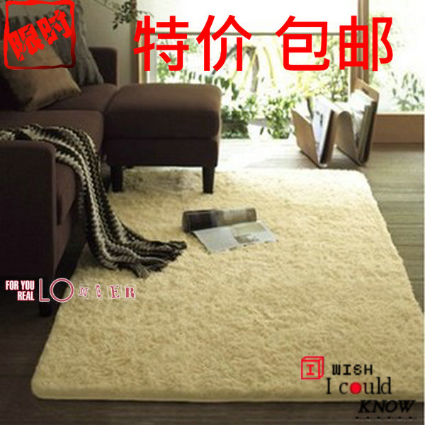 Specials 包邮 padded silk and wool carpets bed bedroom carpet mat cute living room coffee table can be customized