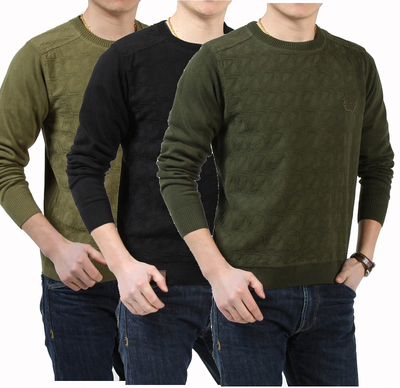 AFS JEEP Battlefield Jeep authentic men sweater autumn and winter sweater round neck long-sleeved pullover sweater tide