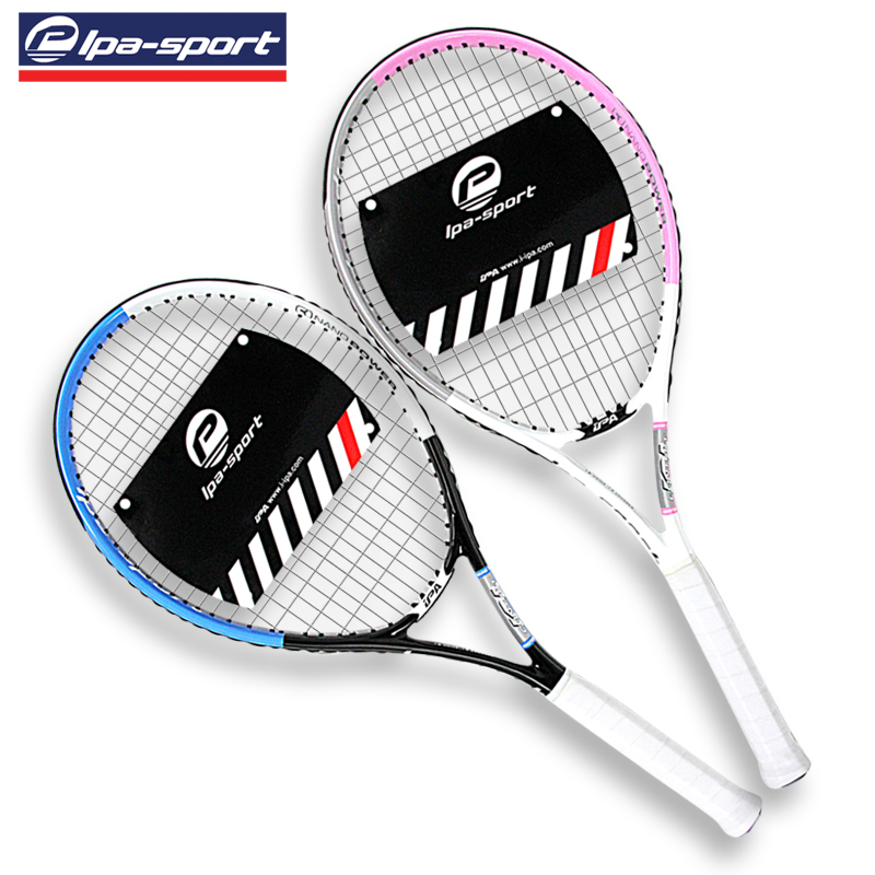 Package mail! Tennis racket carbon special offer beginners a genuine professional single men and women tennis racket set