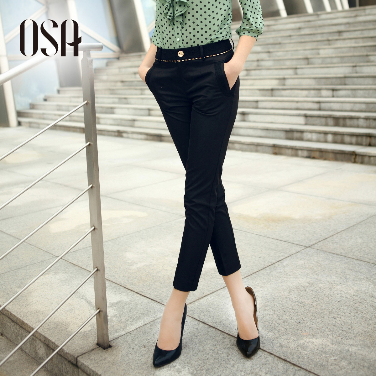 OSA2013 summer dress new skinny women's jeans feet pencil trousers casual pants women pants K33007
