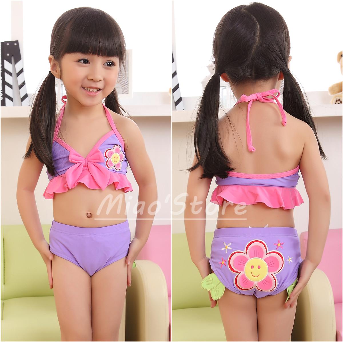 Korean Children Swimwear Girls Split Bikini