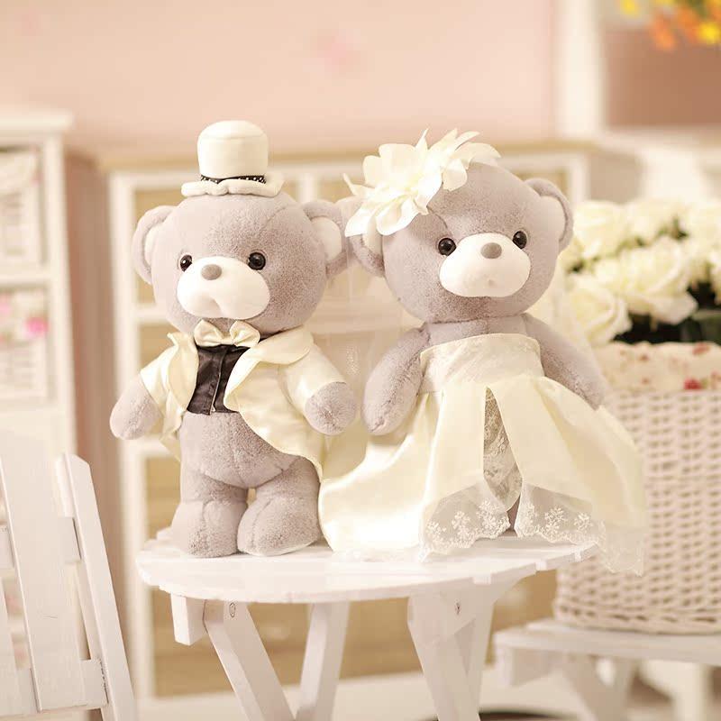樱井翔 正品泰迪熊毛绒玩具公仔 结婚纱礼服情侣婚庆礼物压床娃娃