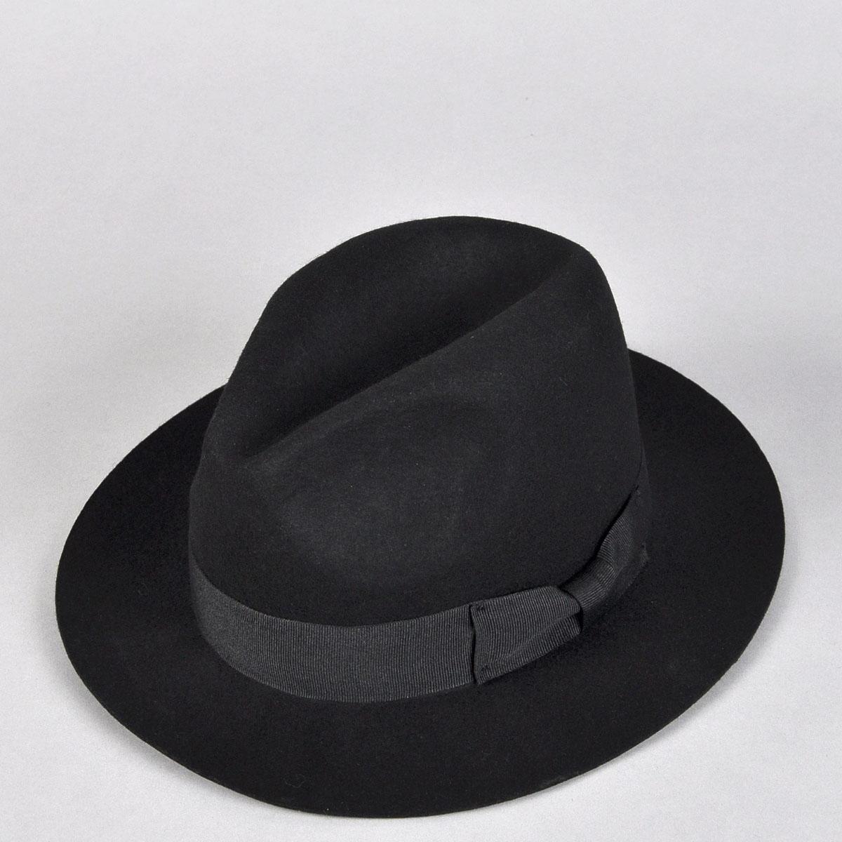 帽_正品韩版男士上海滩许文强羊毛平檐礼帽爵士帽光身时尚潮男帽子