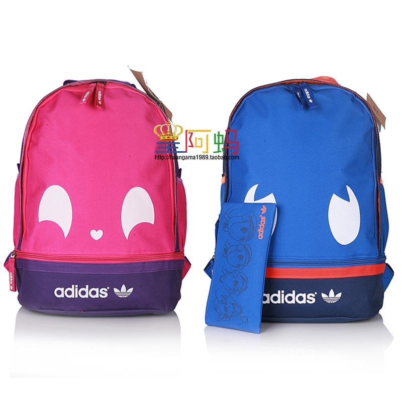 包邮耐克双肩包三叶草小怪兽书包男女中学生书包运动背包电脑包包图片
