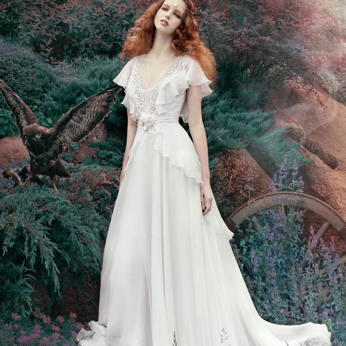 绿野仙踪 2013新款 韩版优雅alena公主欧美婚纱礼服 高级定制