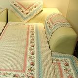 全棉布艺绗缝沙发垫