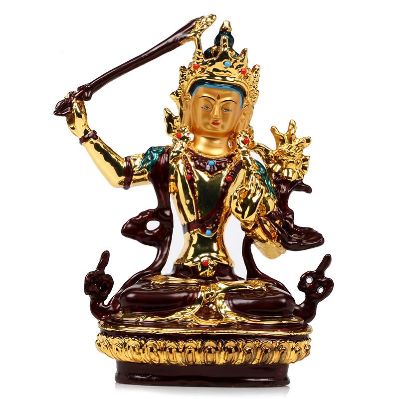 文殊菩萨 绿度母 药师佛 黄财神 四臂观音 纯铜藏传佛教佛菩萨像