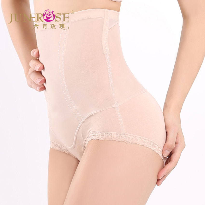 June Rose Summer Cool hip high waist abdomen trousers thin tights seamless Lace Panties Underwear