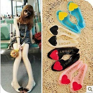 包邮 summer color candy fish mouth shoes Crystal shoes flat sandal love jelly Sandals slippers women
